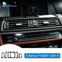 Airspeed Carbon Fiber Console Air Conditioning Outlet Vent Frame Trim Stickers LHD For BMW F10 5