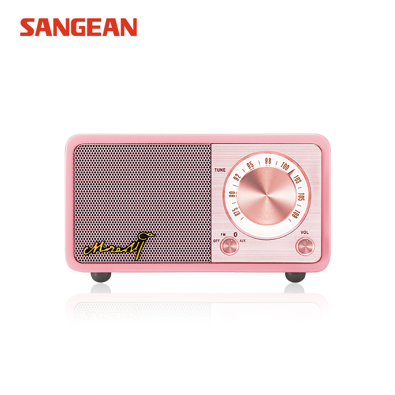 Free shipping Sangean portable mini bluetooth speaker high quality speaker portable speaker with radio fm mymei groupie mini speaker portable bluetooth mp3 no high fidelity high wire subwoofer active low outdoors free music speaker for