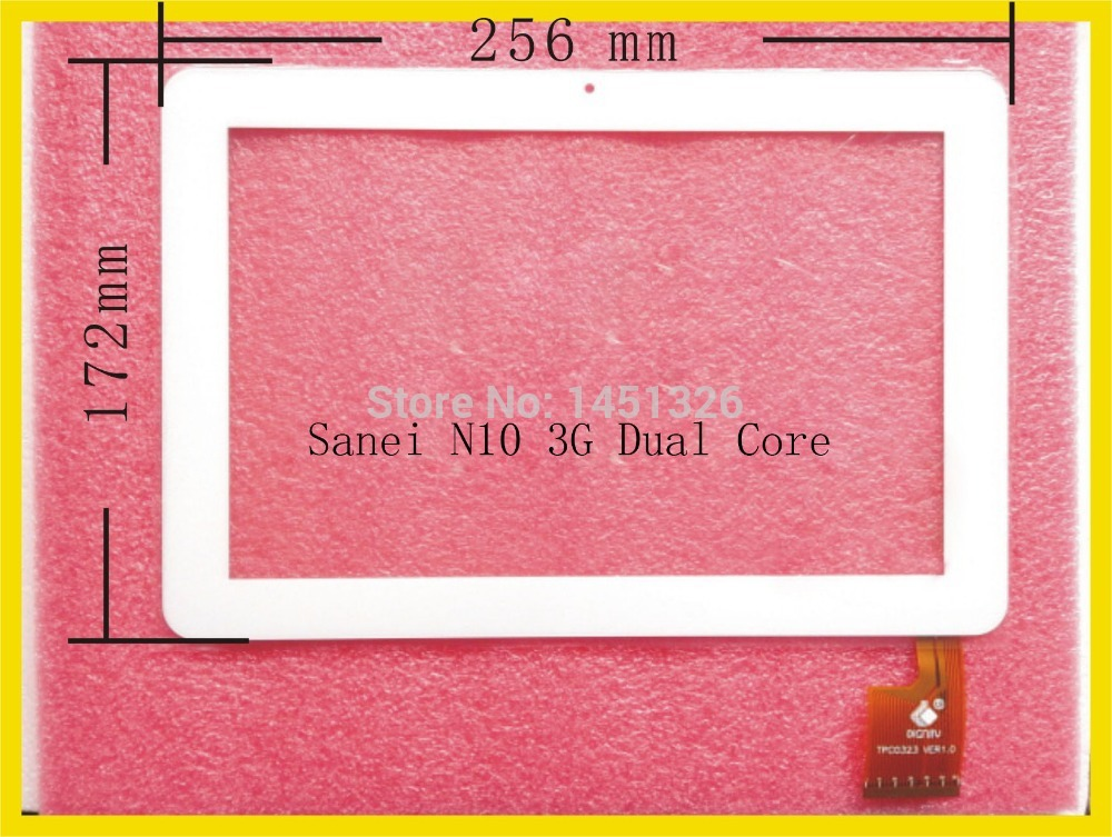 New 10.1 Inch Touch Screen Digitizer Panel for Sanei N10 3G Dual Core White TPC0323 tablet pc