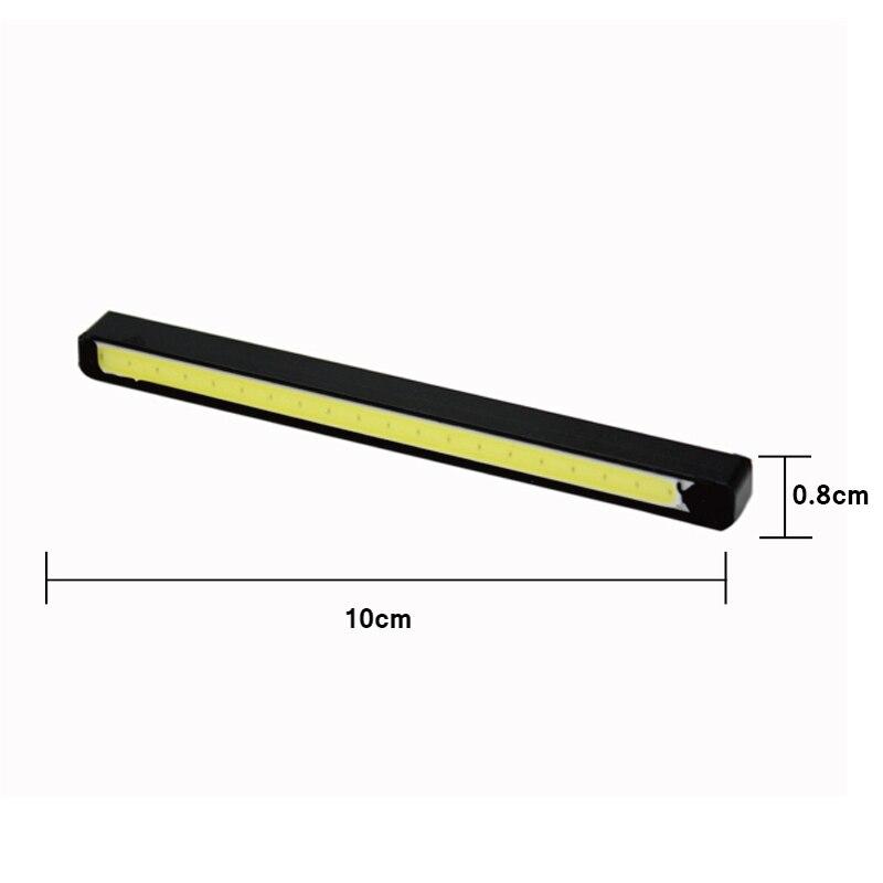 2 Stk / sæt SUNKIA Høj lys COB DRL LED 10 cm daglygter lampe Auto - Billygter - Foto 2