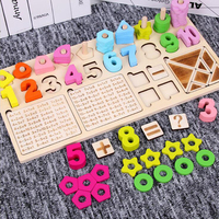 Child Multifunction Math Toys Digital Shape Pairing Learning Preschool Counting Board Kids Educational Toys for Children