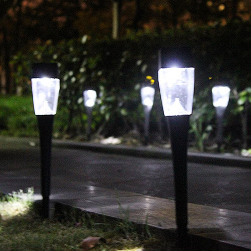 Waterproof Solar LED Light Outdoor Solar Lawn Garden Lights Landscape Pathway Stake Solar Lamp Auto change colour