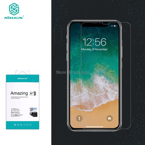 Tempered Glass for iPhone XS Max Screen Protector for iphone 11 Pro Max Nilkin Amazing H&H+Pro Clear Glass Film for iPhone XR XS Pakistan