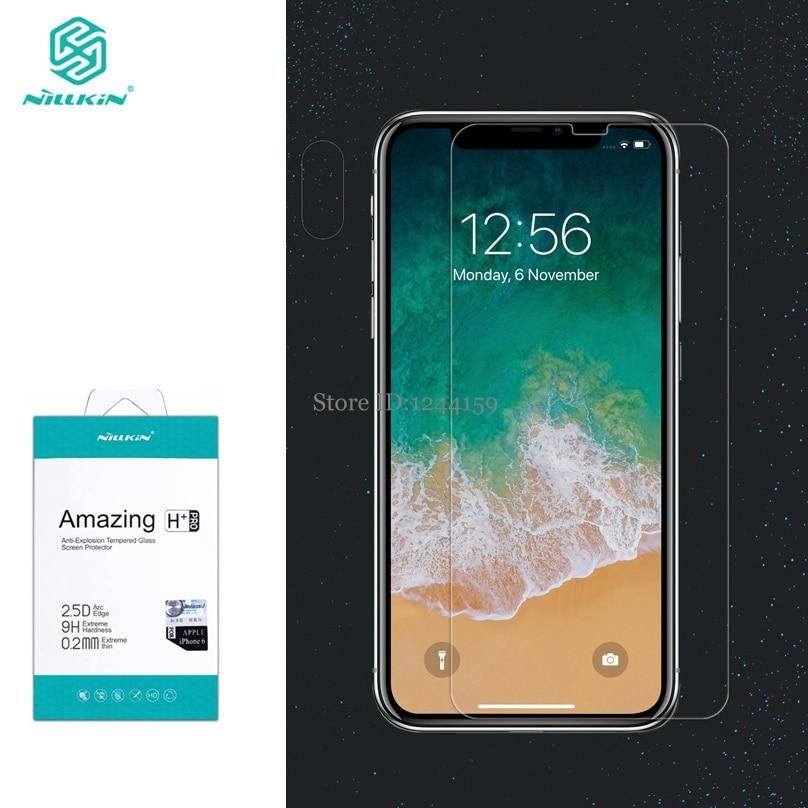 Vidro temperado para iphone xs max protetor de tela para iphone 11 pro max nilkin incrível h & h + pro filme de vidro claro para iphone xr xs