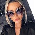 2017 Oversize Spiegel Rosa Sonnenbrille Cat Eye Vintage Marke Designer Frauen Sonnenbrille Weibliche Shades Sonnenbrille Dame Großhandel