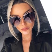 2017 Большие зеркальные розовые солнцезащитные очки кошачий глаз винтажные брендовые дизайнерские женские Солнцезащитные очки женские солн...