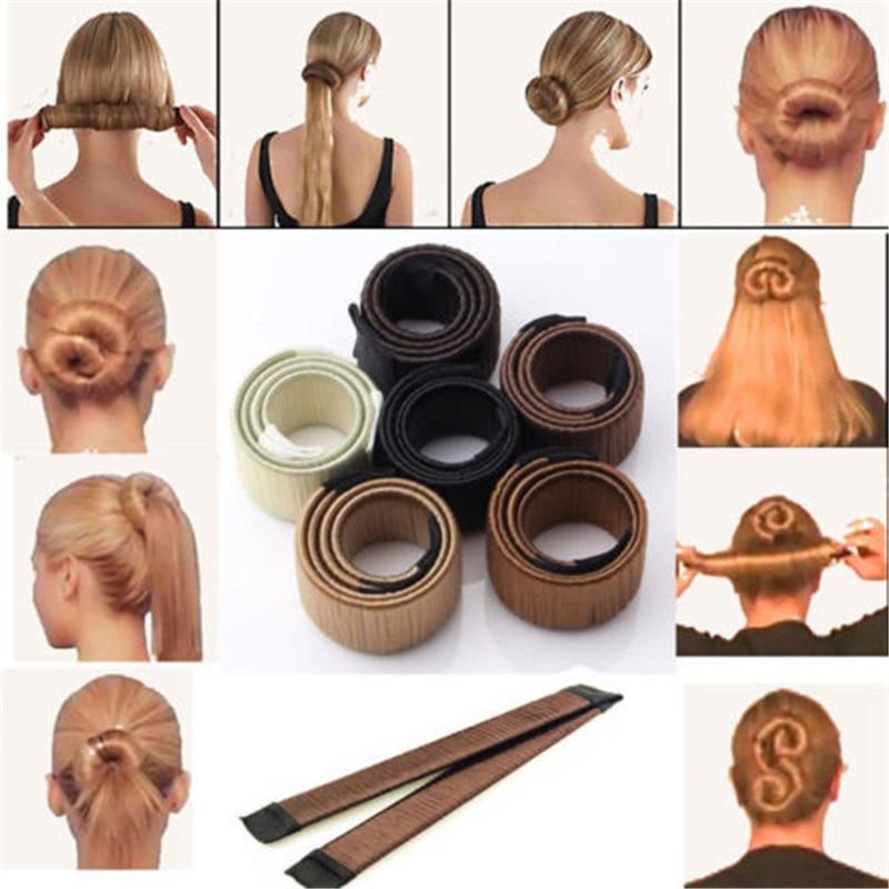 6Colors DIY Tool Hair Accessories 22cm Wig Donuts Bud Head Band Ball French Twist French Magic Bun Maker Sweet Hair Braider