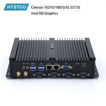 HYSTOU Industrial PC Intel Core i5 3317u 1037u 1007u Mini PC Windows 10 TV Box HDMI VGA Dual LAN 4 RS232 8 USB Rugged PC pfsense