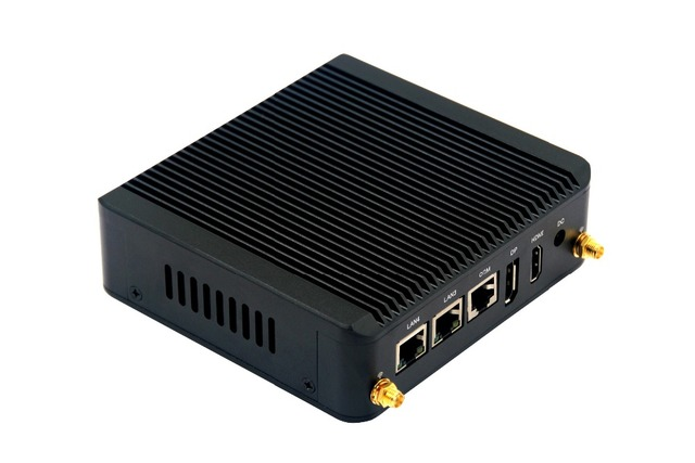 Pfsense Nano Mini itx Celeron N2806 Barebone Mini Computer Ubuntu linux Firewall Router x86 Fanless Small industrial Mini PC