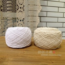 Wholesale export 10-3 thread Crochet flower handmade DIY pure cotton knitting lace line of the White Beige