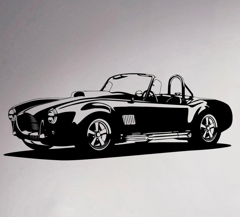 Classic Cobra Roadster Wall <font><b>Sticker</b></font> Retro Sport Racing Car Vinyl Decal <font><b>Home</b></font> Interior Vintage <font><b>Art</b></font> Decor Ideas <font><b>Mural</b></font>