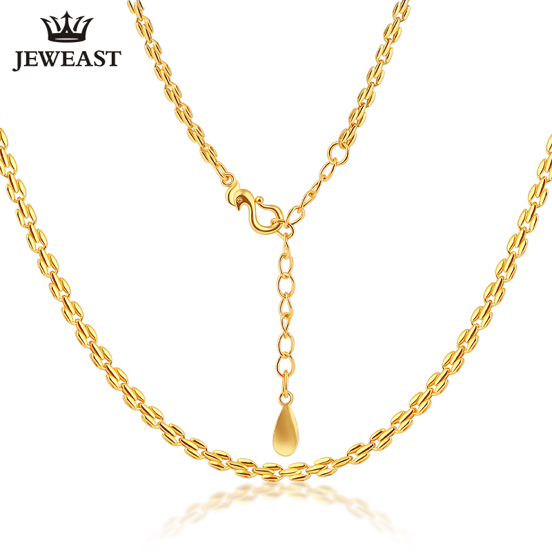 7e6ef3c5ebc52 24K Pure Gold Necklace Real AU 999 Solid Gold Chain Stylish Good Simple  Beautiful Upscale Classic Fine Jewelry Hot Sell New 2018