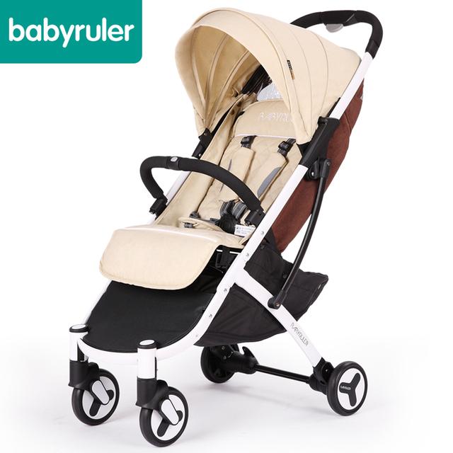 Europeu carrinho de bebê do carro guarda-chuva super leve dobramento de quatro-way amortecedores pode sentar reclináveis carrinho de crianças