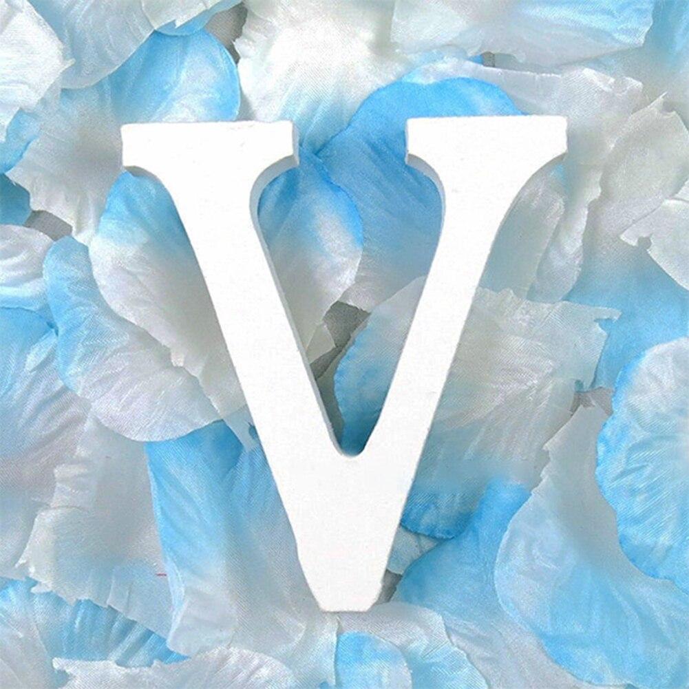 3D деревянные буквы letras decorativas персонализированное Имя Дизайн Искусство ремесло деревянные украшения letras de madera houten буквы - Цвет: V