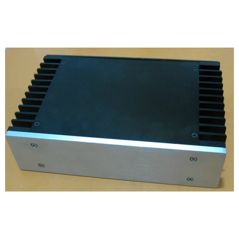 Full aluminum chassis short body heat dissipation chassis - 2607 All aluminum power amplifier chassis/amplifier case ar998 full aluminum amplifier chassis hifi amplifier chassis external radiator amplifier case