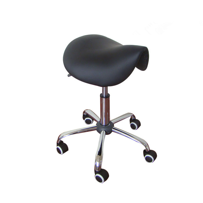 Rolling Massage Chair Saddle Stool Leather Upholstery Portable - Perabot - Foto 5