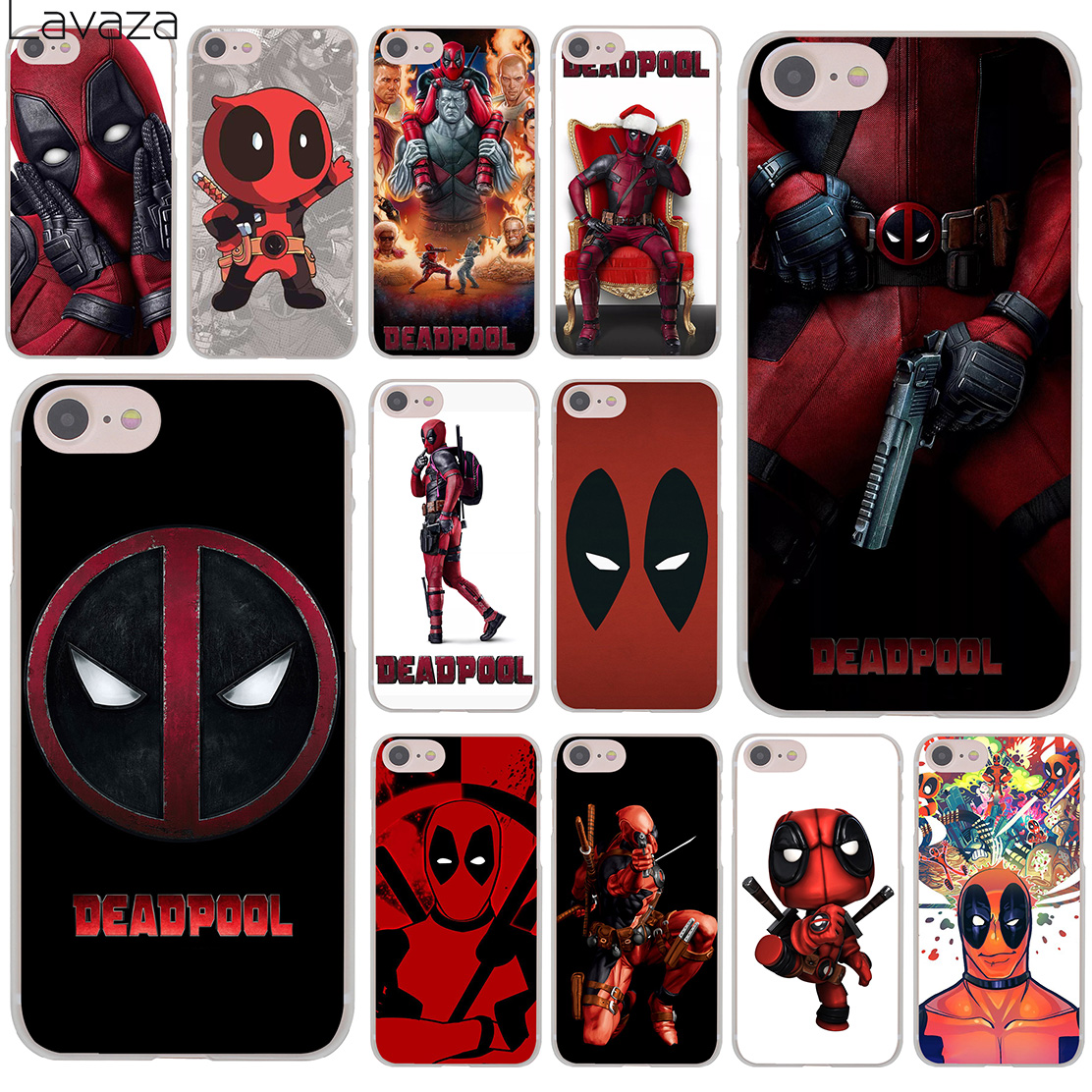 Deadpool Marvel Wade Winston Wilson Hard Transparent Case Cover for iPhone 7 7 Plus 6 6S Plus 5 5S SE 5C 4 4S marvel glass iphone case