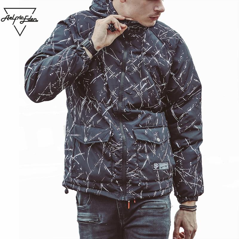 Aelfric Eden Tie Dye Winter Coat Men Parka Jacket New Design Pockets Parkas Hombre Jackets Coats Hip Hop Warm Outwear Coat As032