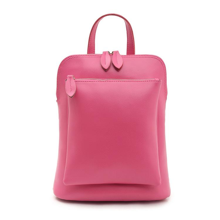 ФОТО 2017 Fashion Casual Backpack Solid Color Women's Cowhide Genuine Leather Portable One Shoulder School Bag