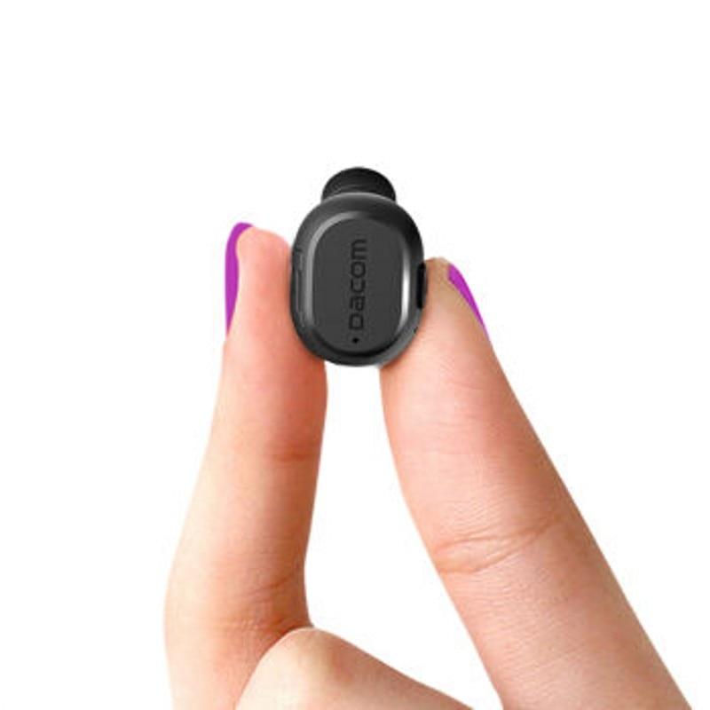Dacom K007 Mini Bluetooth Earphone Wireless Music Headset Handsfree Phone Stealth Earbud With Microphone For iPhone Samsung smochm true wireless bluetooth v4 2 music phonecall single earbud earphone headset for iphone xiaomi huawei samsung