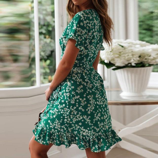 ruffled top and bottom print dress 4