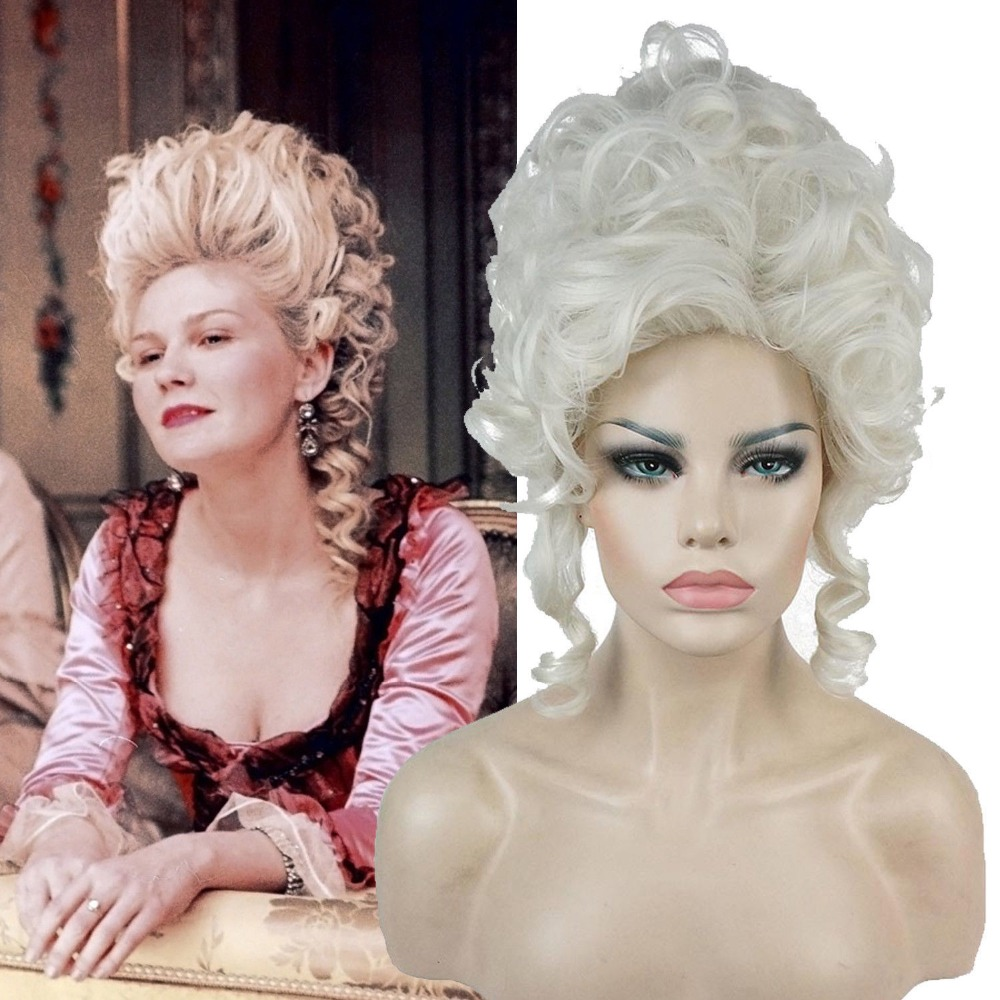 Adult Marie Antoinette Fancy Dress Vampire Queen Aristocratic Victorian Style Women's Baroque Hair Halloween Party Accessories
