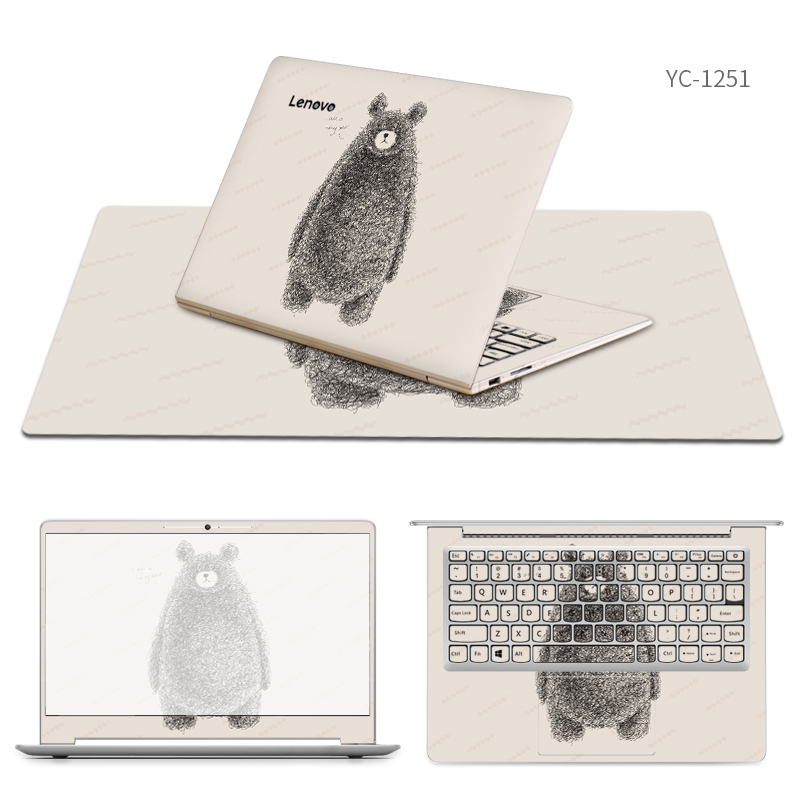 Laptop Stickers with Same Style Mouse Pad Skin for Lenovo ideapad 310s/710s/510/310/110/300/110s/510s/miix 510/700/720s Cases for lenovo miix 320 tablet keyboard case for lenovo ideapad miix 320 10 1 inch leather cover cases wallet case hand holder fil