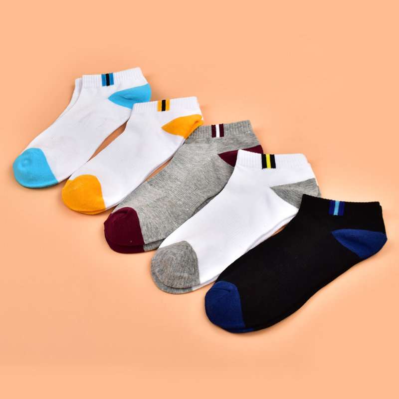 Summer Men Short Socks Mens Casual Cotton Mesh Fight Color Thin Section Shallow Mouth Socks Mens Meias Wholesale