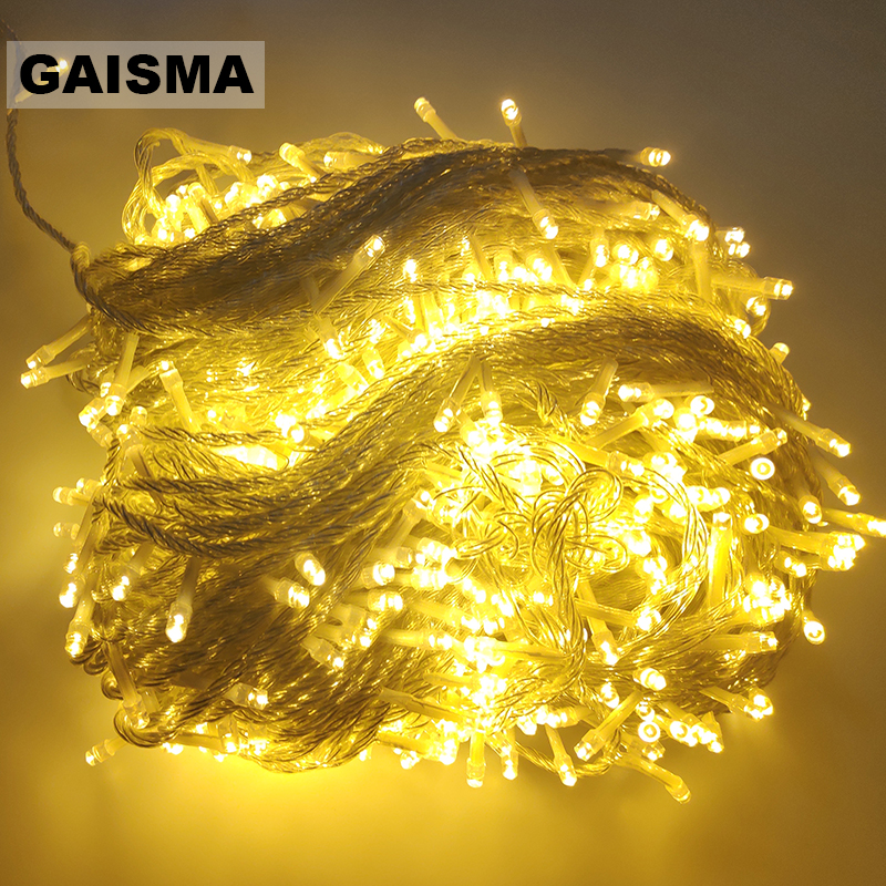 10M 20M 30M 50M 100M Garland LED String Lights Wedding Decoration Christmas Fairy Lights Holiday Party Outdoor Lighting Chain