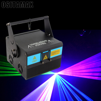DMX RGB 1W 128 Laser Animation Projector Stage Lighting DJ Show Party Light