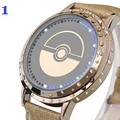 Cool Wrist Watch Hot Game Pokemon Go Men Women Pokeball Watches New Trendy Waterproof Touch Screen LED Genuine Leather Watch