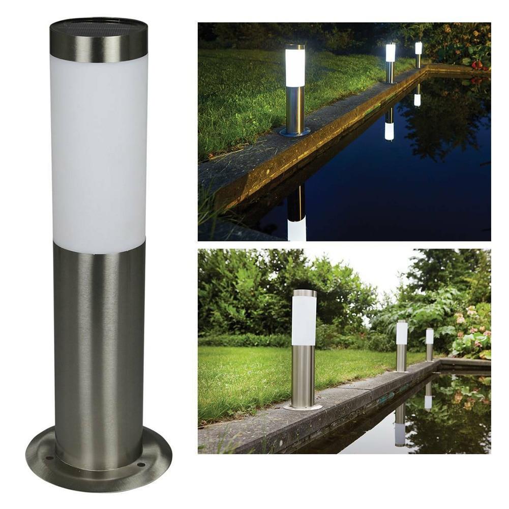 E27 Modern Waterproof Post Grassland Door Stainless Steel Fence Outdoor Garden Path Pillar Light Landscape Lawn Decorative