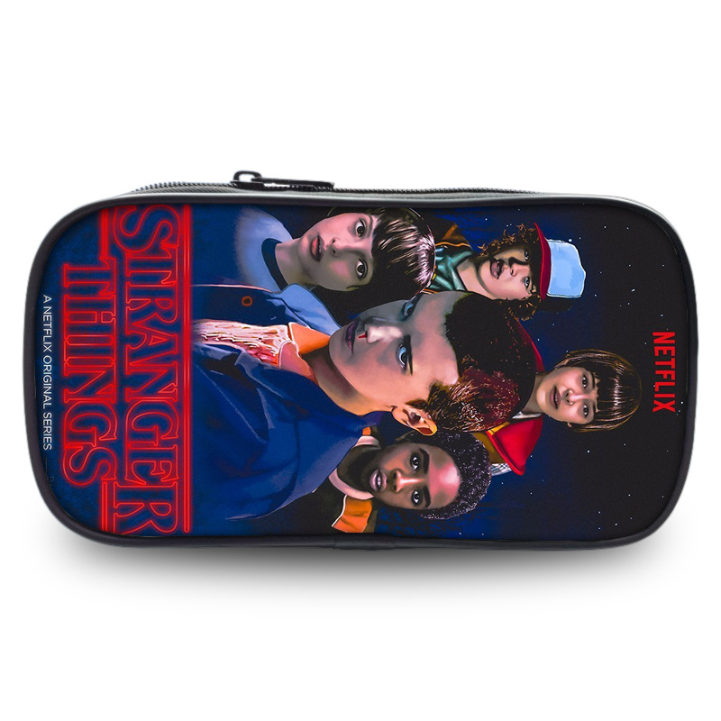 Stranger Things Pencil Holder Boys Girls School Case Children Kids Cartoon Bag Women Cosmetic Cases Material Escolar Lapices
