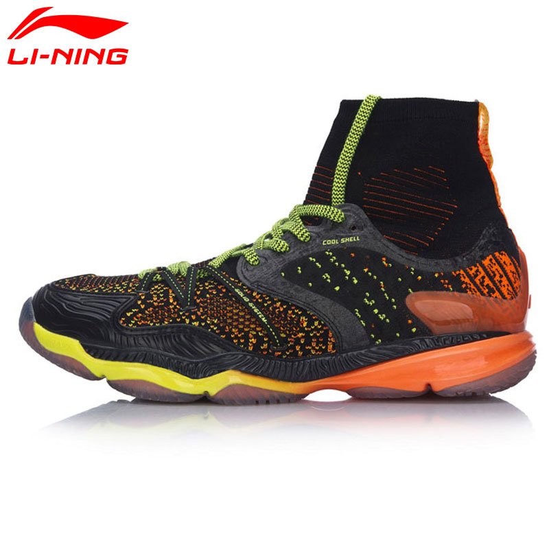 Li-Ning Men Ranger Professional Badminton Shoes High Cut Cushion BOUNSE+ LiNing Sports Shoes Sneakers  AYAM009 XYY047 li ning men dominator on court basketball shoes bounse cushion lining sports shoes tpu support sneakers abpm027 xyl120