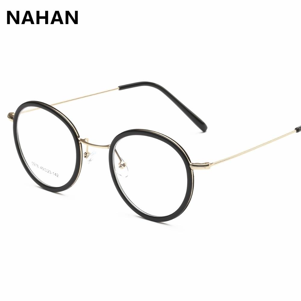 be68060e018 TR90 Retro Round Optical Glasses Frame Vintage Retro Plastic Titanium  Eyeglasses Plain Mirror Women Eyeglass Frame
