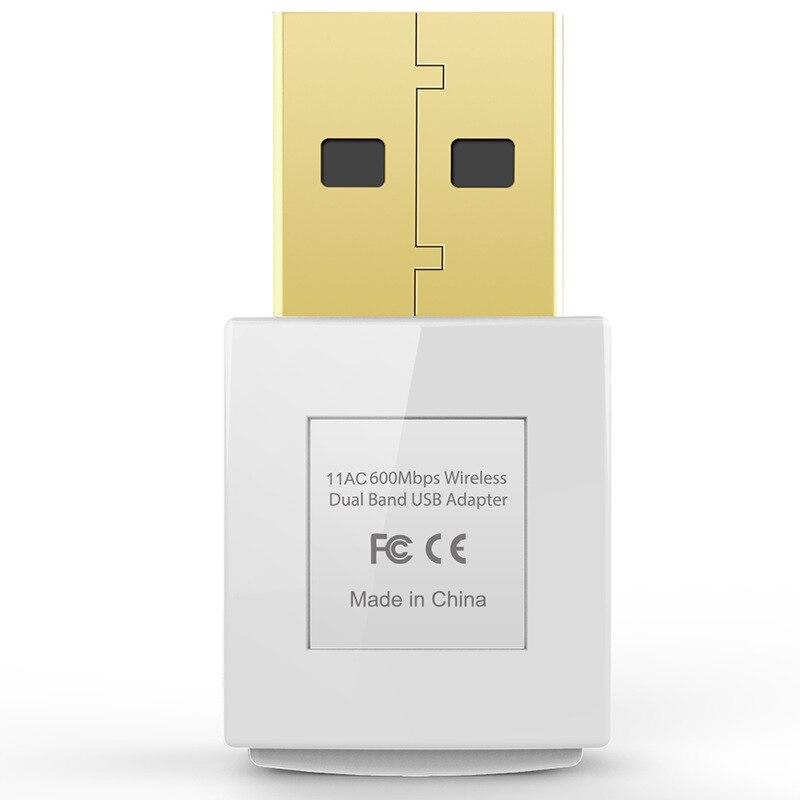 Dual-Band 2.4G / 5G 600 Mbps 802.11AC USB Draadloze WiFi Adapter - Netwerkapparatuur - Foto 4