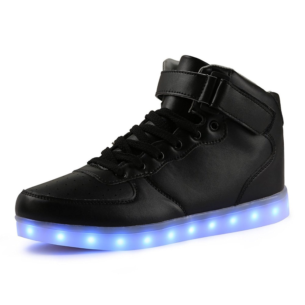 TUTUYU Kids Light Up Shoes USB Charging LED Children Shoes with High Heel Casual Boys Girls Luminous Casual Glowing Shoe 032