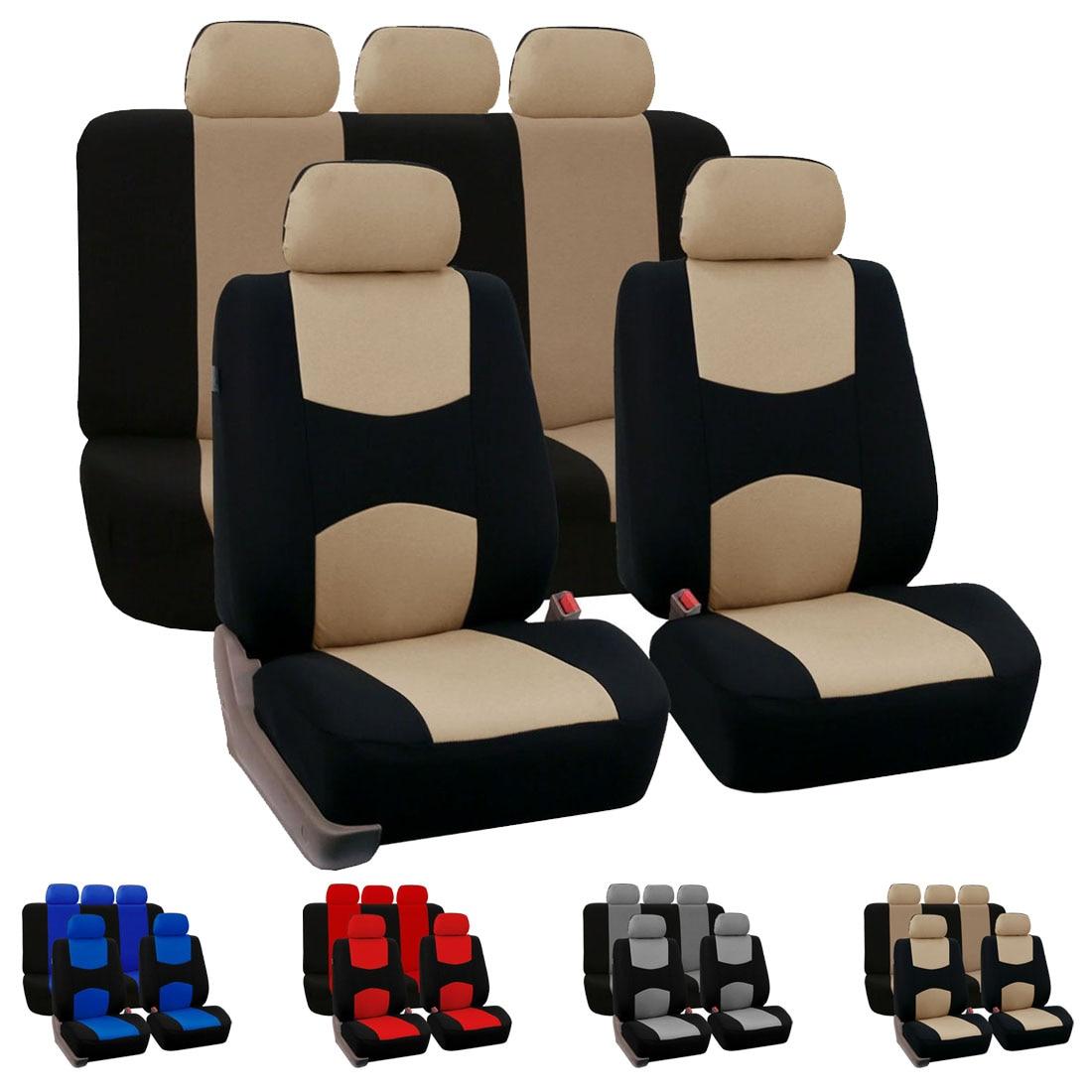 Dewtreetali Full Set Car Seat Covers Universal Fit Car Seat Protectors Auto font b Interior b
