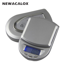 NEWACALOX 100g x 0.01g Mini Digital Scale for Gold Bijoux Sterling Silver Weight Scale Jewelry 0.01 Balance Electronic Scales