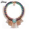 Fashion Necklaces Pendants Women 2016 Bib Boho Jewelry Bohemian Maxi Pearl Choker Bijoux Collar Tassel Collier Femme Ethnic