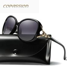 Assintóticas Cor Óculos Polarizados Óculos de Sol das Mulheres Óculos de Sol de design da marca de Luxo Designer De Senhoras UV Eyewear oculos de sol feminino