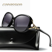 Brand design Polarized Sunglasses Women's Asymptotic Color Sun Glasses Luxury Ladies Designer UV Eyewear oculos de sol feminino(China)