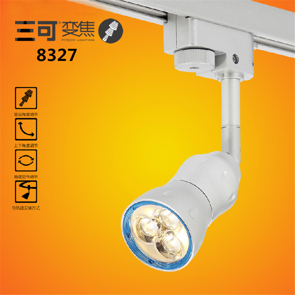 energy saving  high CRI 6W LED Track light Focus Spotlight For Art Gallery Lighting with brand LED for retail lighting 30w art lamp led track light personalize