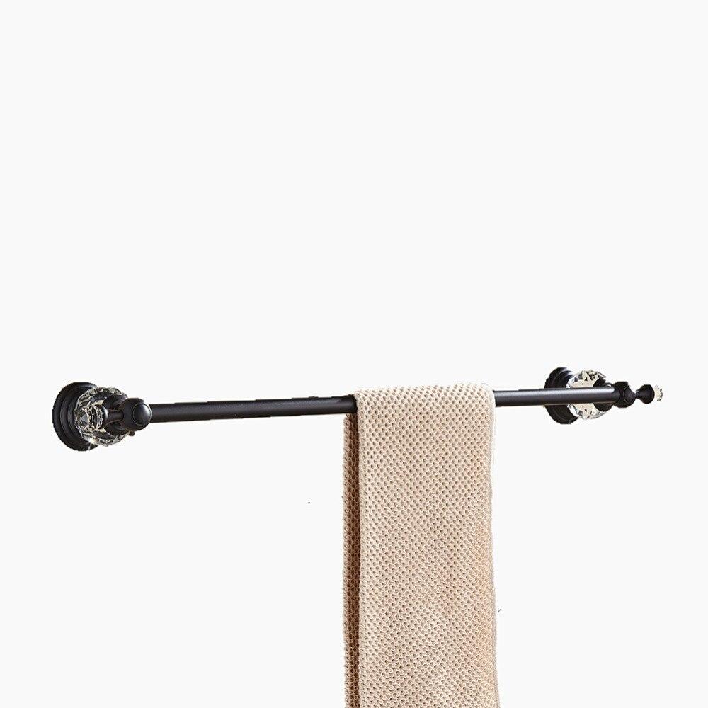 AUSWIND Antique Luxury Clear Crystal Zinc Alloy Black Oil Bronze Towel Bar Wall Mount Bathroom Accessories BL9 square shaped stylish crystal zinc alloy stud earrings black bronze pair
