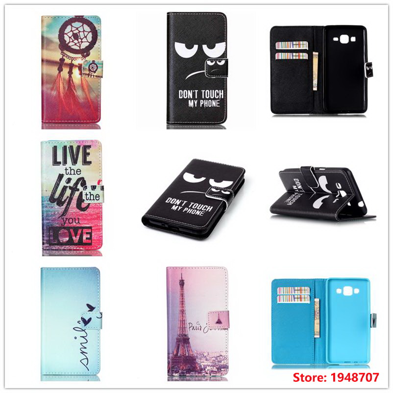 For Samsung Galaxy Galxy Grand Prime Duos G530H G531F Black Eyes Classic Book Flip Wallet Style