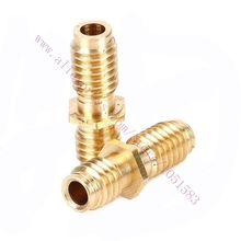 5pc Ultimaker Original /Original+ 3D Printer Hot End Isolator Tube M6X20 Brass Feed Pipe 3d printer extruder parts Free Shipping