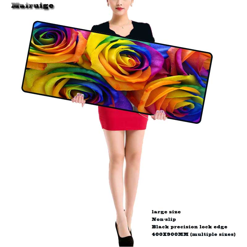 Mairuige Colorful Fleurs 800 X 300mm Large Mousepads Gaming Mouse Pad Keyboard Mat for Legends Csgo Basketball Star ONE PIECE
