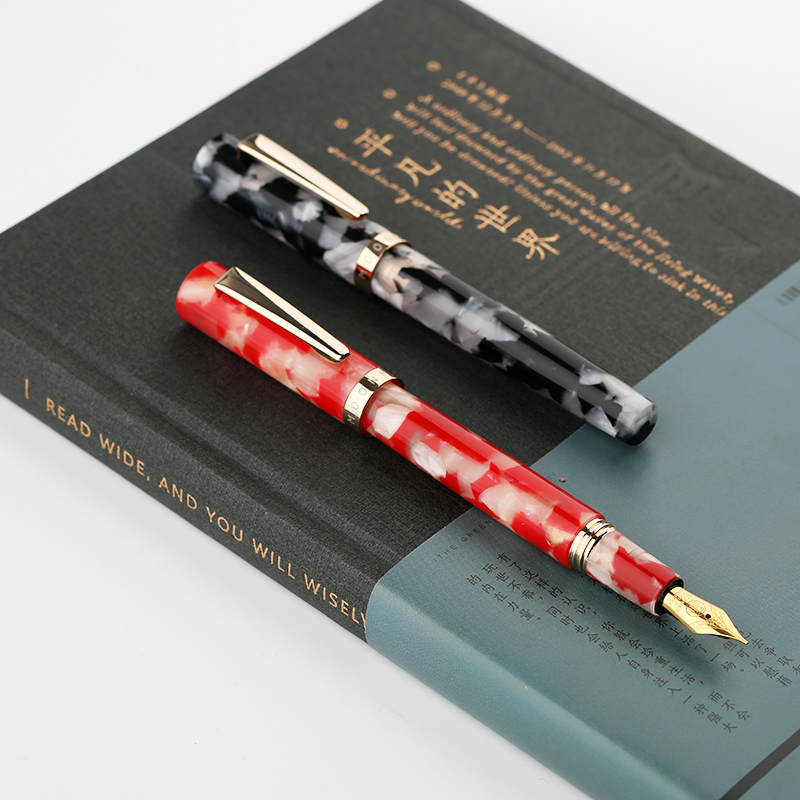 все цены на New Moonman N2 Creative Mini Resin Acrylic Fountain Pen Pocket Short Ink Pen Extra Fine/ Fine 0.38/0.5mm Fashion Gift for Office онлайн