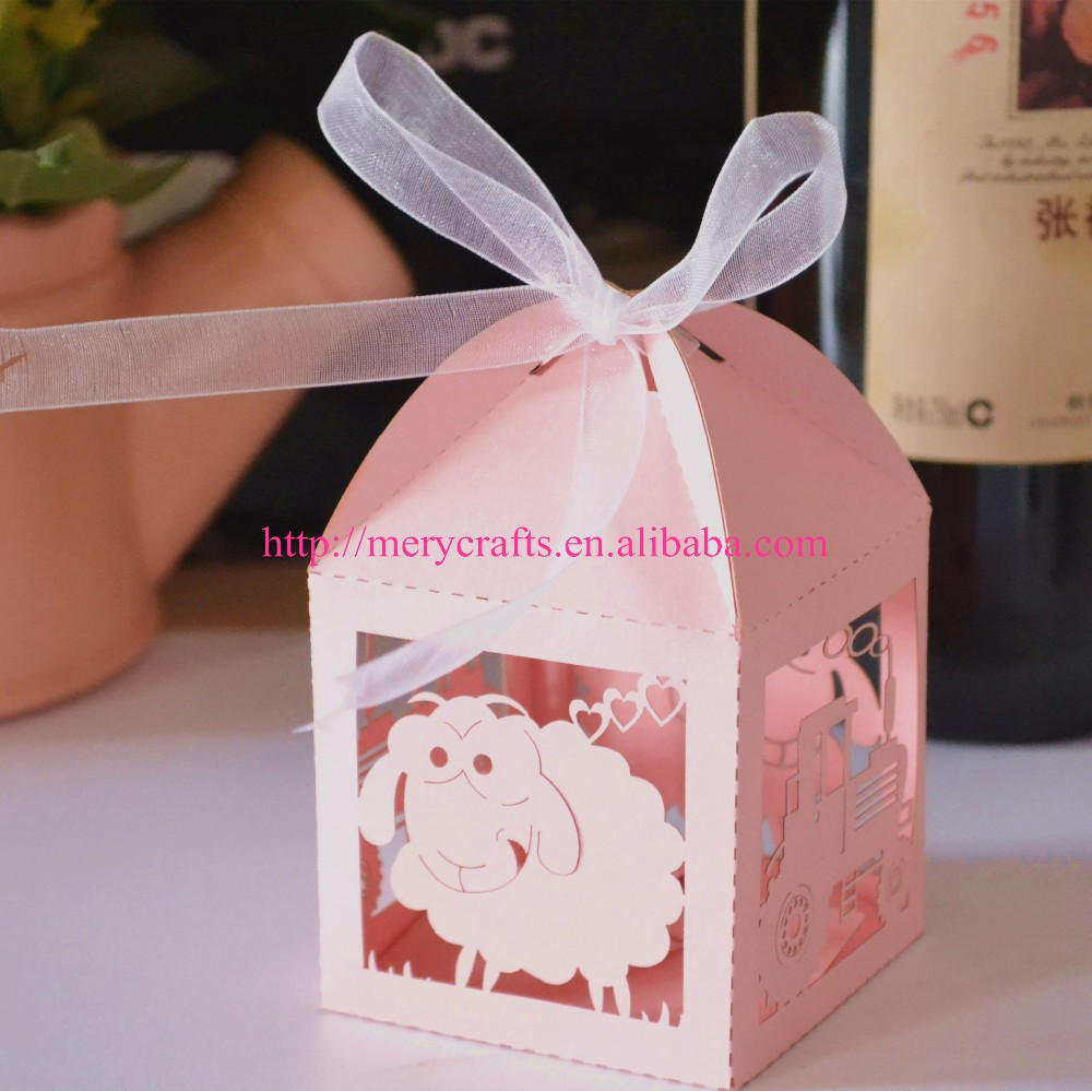 Cute train and sheep design baby show wedding party decoration laser ...