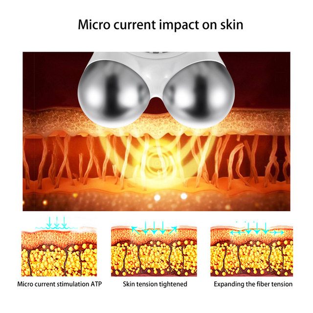 Mini microcurrent face lift machine Skin Tightening Rejuvenation Spa USB Charging facial wrinkle remover device Beauty Massager 2